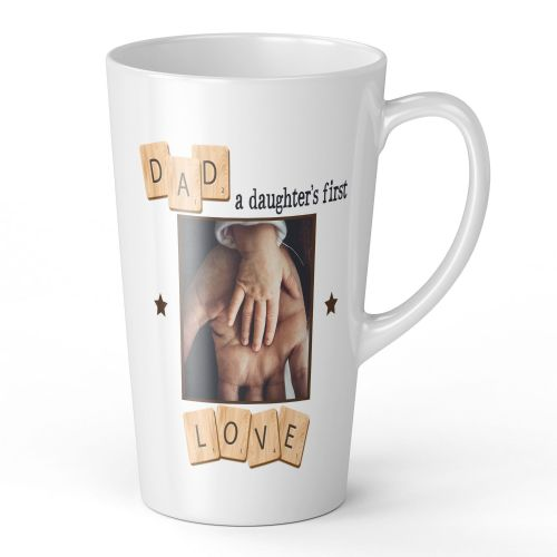 17oz Personalised Dad, A Daughter's First Love Novelty Gift Latte Mug